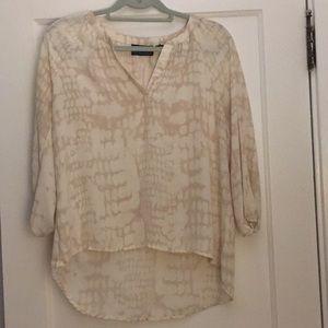 Three quarter length sleeve blouse